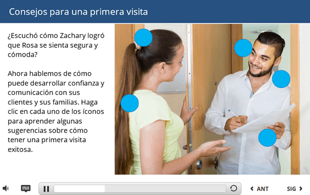 Sample of a course video translated to Spanish